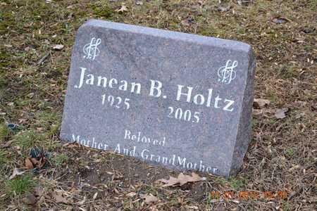 HOLTZ, JANEAN B. - Branch County, Michigan | JANEAN B. HOLTZ - Michigan Gravestone Photos