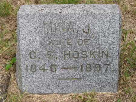 HOSKIN, MINA J. - Branch County, Michigan | MINA J. HOSKIN - Michigan Gravestone Photos