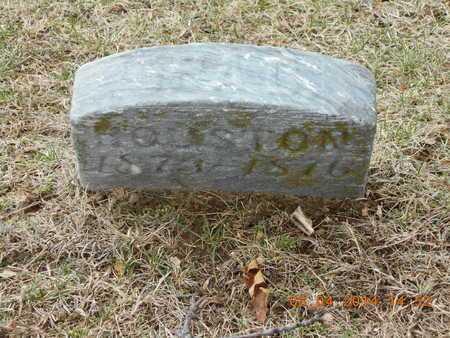 HOUSTON, ORA D. - Branch County, Michigan   ORA D. HOUSTON - Michigan Gravestone Photos