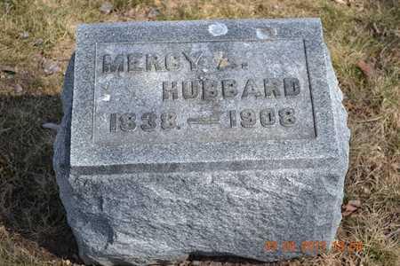 HUBBARD, MERCY A. - Branch County, Michigan | MERCY A. HUBBARD - Michigan Gravestone Photos