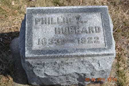 HUBBARD, PHILLIP A. - Branch County, Michigan | PHILLIP A. HUBBARD - Michigan Gravestone Photos