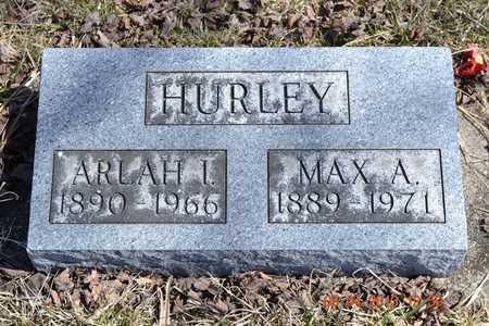 HURLEY, ARLAH I. - Branch County, Michigan | ARLAH I. HURLEY - Michigan Gravestone Photos