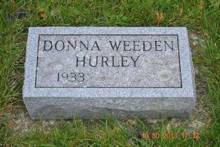 HURLEY, DONNA - Branch County, Michigan | DONNA HURLEY - Michigan Gravestone Photos