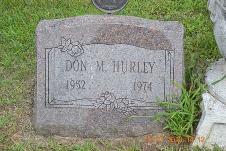 HURLEY, DON M. - Branch County, Michigan | DON M. HURLEY - Michigan Gravestone Photos