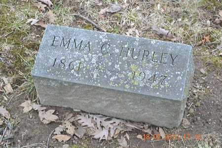 HURLEY, EMMA C. - Branch County, Michigan   EMMA C. HURLEY - Michigan Gravestone Photos