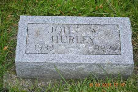 HURLEY, JOHN W. - Branch County, Michigan | JOHN W. HURLEY - Michigan Gravestone Photos