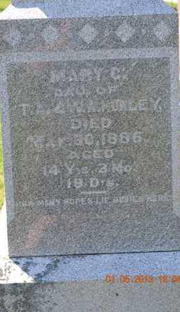 HURLEY, MARY C.(CLOSEUP) - Branch County, Michigan   MARY C.(CLOSEUP) HURLEY - Michigan Gravestone Photos