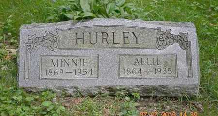 HURLEY, ALLIE - Branch County, Michigan | ALLIE HURLEY - Michigan Gravestone Photos