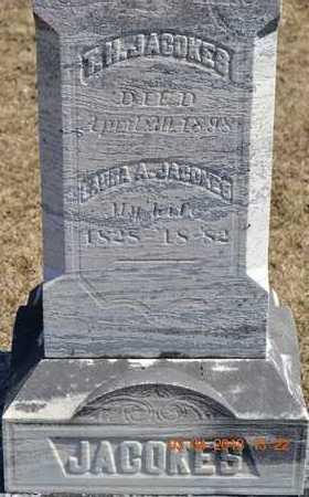 JACOKES, T.H./LAURA - Branch County, Michigan | T.H./LAURA JACOKES - Michigan Gravestone Photos
