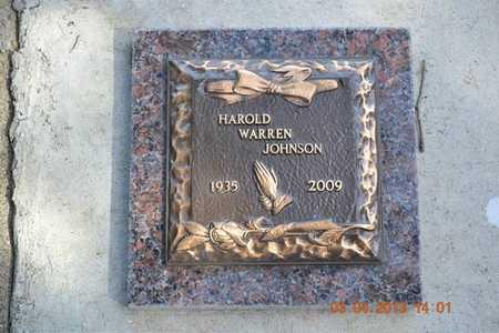 JOHNSON, HAROLD WARREN - Branch County, Michigan | HAROLD WARREN JOHNSON - Michigan Gravestone Photos