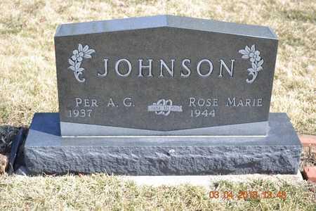 JOHNSON, PER A.G. - Branch County, Michigan | PER A.G. JOHNSON - Michigan Gravestone Photos