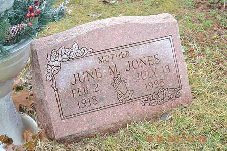 JONES, JUNE M. - Branch County, Michigan | JUNE M. JONES - Michigan Gravestone Photos