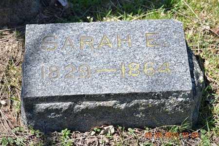 JONES, SARAH E. - Branch County, Michigan | SARAH E. JONES - Michigan Gravestone Photos
