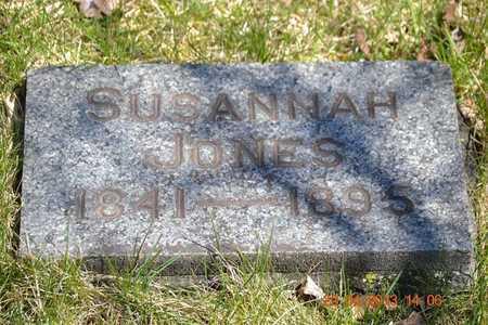 JONES, SUSANNAH - Branch County, Michigan | SUSANNAH JONES - Michigan Gravestone Photos