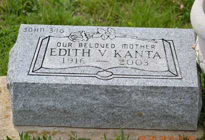 KANTA, EDITH V. - Branch County, Michigan | EDITH V. KANTA - Michigan Gravestone Photos