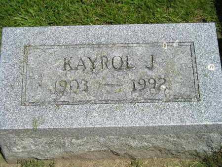 KEESLAR, KAYROL J. - Branch County, Michigan | KAYROL J. KEESLAR - Michigan Gravestone Photos