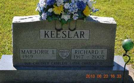 KEESLAR, RICHARD E. - Branch County, Michigan | RICHARD E. KEESLAR - Michigan Gravestone Photos