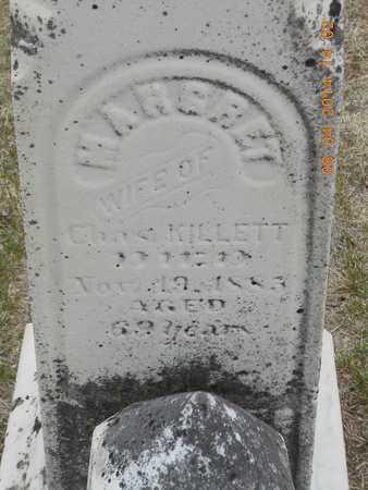 KILLETT, MARGRET - Branch County, Michigan | MARGRET KILLETT - Michigan Gravestone Photos