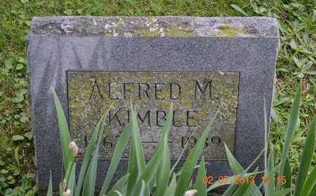 KIMBLE, ALFRED M. - Branch County, Michigan | ALFRED M. KIMBLE - Michigan Gravestone Photos