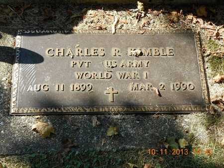 KIMBLE, CHARLES R. - Branch County, Michigan   CHARLES R. KIMBLE - Michigan Gravestone Photos