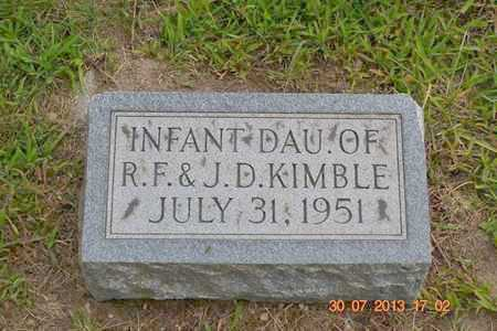 KIMBLE, INFANT DAUGHTER - Branch County, Michigan   INFANT DAUGHTER KIMBLE - Michigan Gravestone Photos