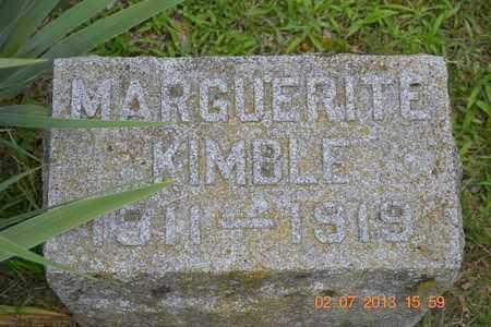 KIMBLE, MARGUERITE - Branch County, Michigan | MARGUERITE KIMBLE - Michigan Gravestone Photos