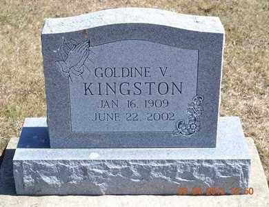 KINGSTON, GOLDIE V. - Branch County, Michigan | GOLDIE V. KINGSTON - Michigan Gravestone Photos