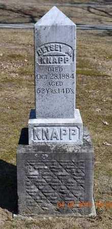 KNAPP, BETSEY M. - Branch County, Michigan | BETSEY M. KNAPP - Michigan Gravestone Photos
