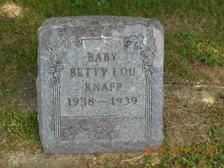 KNAPP, BABY BETTY LOU - Branch County, Michigan | BABY BETTY LOU KNAPP - Michigan Gravestone Photos