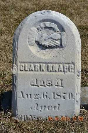 KNAPP, CLARK - Branch County, Michigan | CLARK KNAPP - Michigan Gravestone Photos