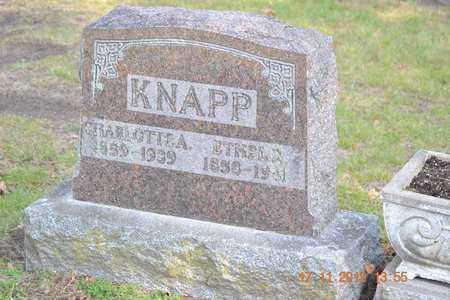 KNAPP, ETHEL P. - Branch County, Michigan | ETHEL P. KNAPP - Michigan Gravestone Photos
