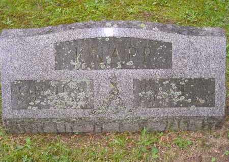 KNAPP, CARROLL W. - Branch County, Michigan | CARROLL W. KNAPP - Michigan Gravestone Photos