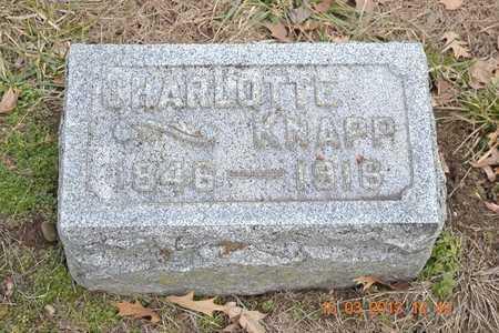 KNAPP, CHARLOTTE - Branch County, Michigan | CHARLOTTE KNAPP - Michigan Gravestone Photos
