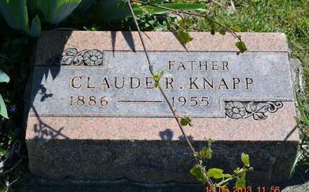 KNAPP, CLAUDE R. - Branch County, Michigan | CLAUDE R. KNAPP - Michigan Gravestone Photos