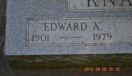 KNAPP, EDWARD A. - Branch County, Michigan | EDWARD A. KNAPP - Michigan Gravestone Photos