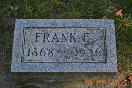 KNAPP, FRANK E. - Branch County, Michigan | FRANK E. KNAPP - Michigan Gravestone Photos
