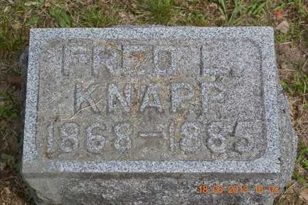 KNAPP, FRED L. - Branch County, Michigan | FRED L. KNAPP - Michigan Gravestone Photos
