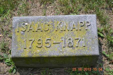 KNAPP, ISAAC - Branch County, Michigan | ISAAC KNAPP - Michigan Gravestone Photos