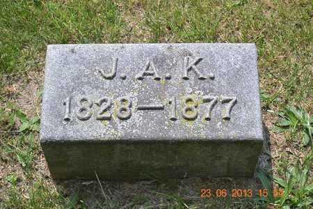 KNAPP, J.A. - Branch County, Michigan   J.A. KNAPP - Michigan Gravestone Photos