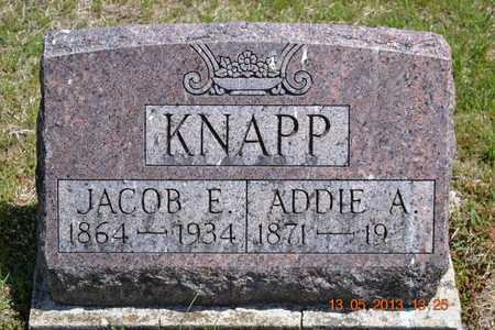 KNAPP, JACOB E. - Branch County, Michigan | JACOB E. KNAPP - Michigan Gravestone Photos