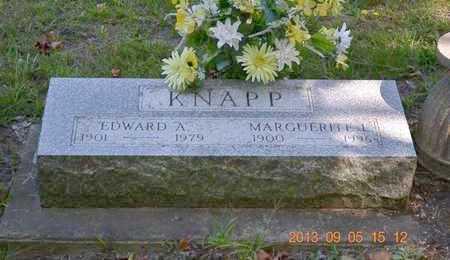 KNAPP, MARGUERITE L. - Branch County, Michigan   MARGUERITE L. KNAPP - Michigan Gravestone Photos