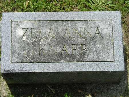 KNAPP, ZELA ANNA - Branch County, Michigan   ZELA ANNA KNAPP - Michigan Gravestone Photos
