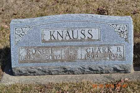 KNAUSS, ROSE I. - Branch County, Michigan | ROSE I. KNAUSS - Michigan Gravestone Photos