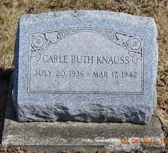 KNAUSS, CARLE RUTH - Branch County, Michigan | CARLE RUTH KNAUSS - Michigan Gravestone Photos