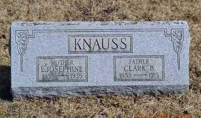 KNAUSS, CLARK B. - Branch County, Michigan | CLARK B. KNAUSS - Michigan Gravestone Photos