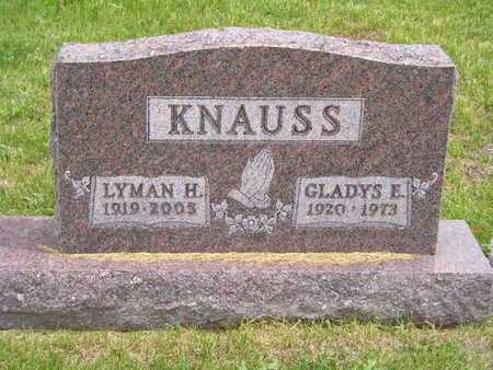 KNAUSS, GLADYS E. - Branch County, Michigan | GLADYS E. KNAUSS - Michigan Gravestone Photos