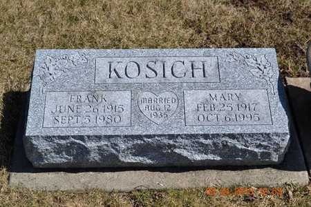 KOSICH, MARY - Branch County, Michigan | MARY KOSICH - Michigan Gravestone Photos