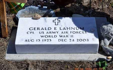 LAHNUM, GERALD E. - Branch County, Michigan   GERALD E. LAHNUM - Michigan Gravestone Photos