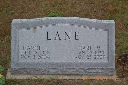 LANE, CAROL L. - Branch County, Michigan | CAROL L. LANE - Michigan Gravestone Photos