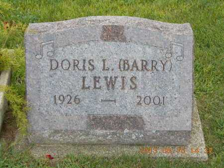BARRY LEWIS, DORIS L. - Branch County, Michigan | DORIS L. BARRY LEWIS - Michigan Gravestone Photos
